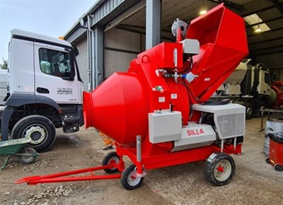 1 off New HYDROMIX BIR750/ID Diesel Reversible Drum Concrete Mixer (2019)