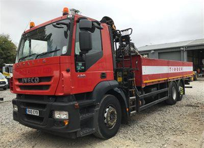 1 off Used IVECO / PALFINGER model PK13001A Hydraulic Loader / Crane Lorry (2010)