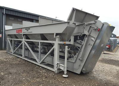 1 off Used / Refurbished HYDROMIX / SAMI model T4 4-Bin Dry Concrete Batching Plant (2009)