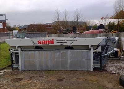 1 off Used / Refurbished HYDROMIX / SAMI model T3 3-Bin Dry Concrete Batching Plant (2008)